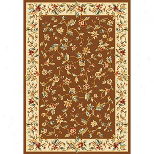 Kas Oriental Rugs. Inc. Alexandria 3 X 5 Alexandria Chocolate/ivory Allover Floral Vine Area Rugs