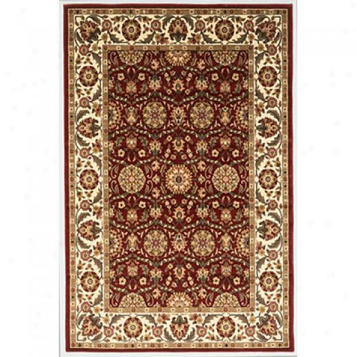 Kas Oriental Rugs. Inc. Cambridge 2 X 3 Cambridge Red/ivory Floral Agra Area Rugs