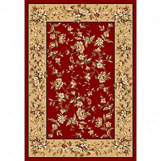 Kaw Oriental Rugs. Inc. Cambridge 3 X 4 Cambridge Red/beige Floral Delight Area Rugs