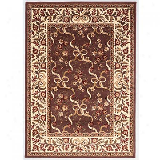 Kas Oriental Rugs. Inc. Cambridge 2 X 3 Cambridge Plum/ivory Floral Ribbons Area Rugs