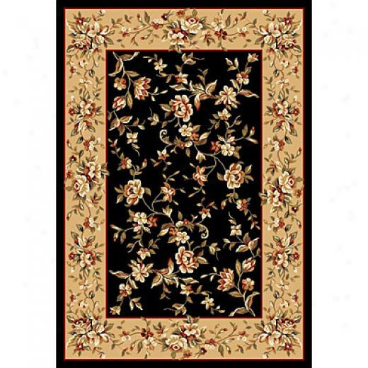 Kas Oriental Rugs. Inc. Cambridge 2 X 3 Cambridge Black/beige Floral Delight Area Rugs