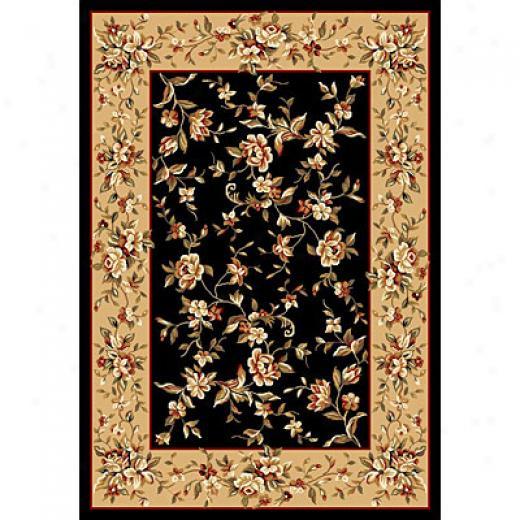 Kas Oriental Rugs. Inc. Cambridge 2 X 3 Cambridge Black/beige Floral Delight Area Rugs