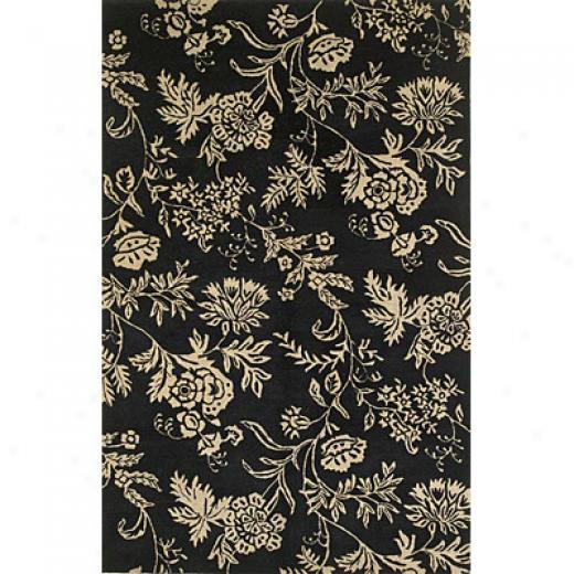 Kas Precious Rugs. Inc. Capri 8 Round Capri Black/ivory Florentine Yard Rugs
