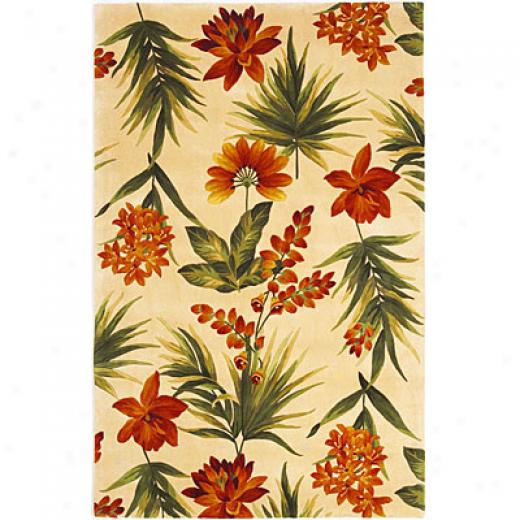 Kaq Oriental Rugs. Inc. Catalina Messenger 2 X 8 Magnolia Catalina Ivory Tropical Flora Area Rugs