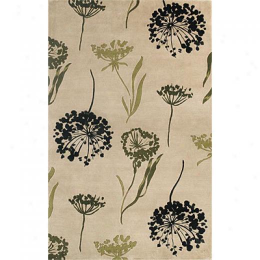 Kas Oriental Rugs. Inc. Chateau 2 X 3 Chateau Ivory Spa Flora Area Rugs