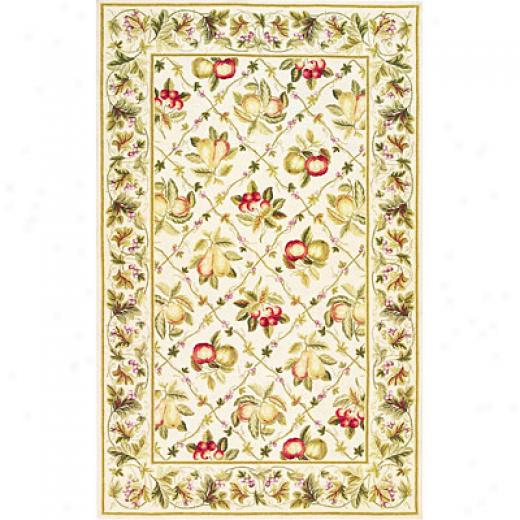 Kas Otiental Rugs. Inc. Colonial 3 X 4 Colonial Ivory Summer Fruits Area Rugs