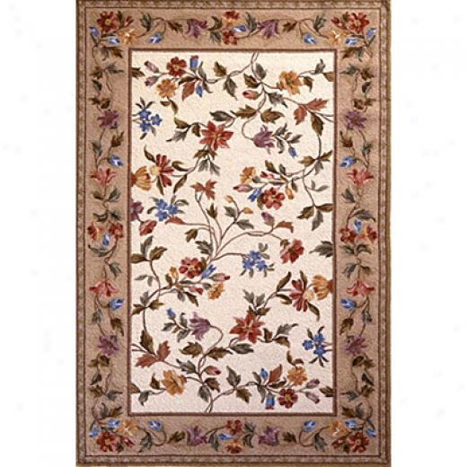 Kas Oriental Rugs. Inc. Colonial 4 X 5 Colonial Ivory Floral Vine Area Rugs