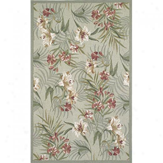 Kas Oriental Rugs. Inc. Colonial 4 X 5 Colonial Sage/rust Wildflowers Area Rugs