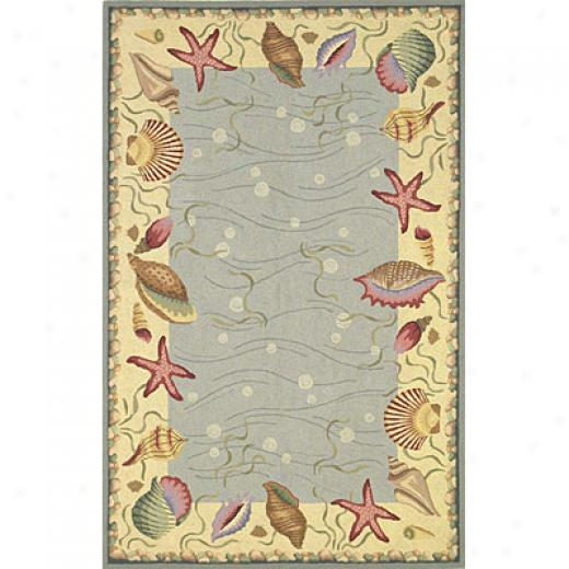 Kas Oriental Rugs. Inc. Colonial 2 X 3 Colonial Blue/ivory Ocean Surprise Area Rugs