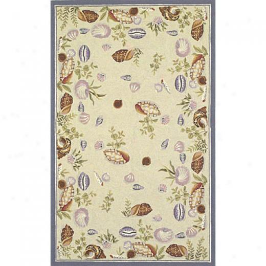 Kas Oriental Rugs. Inc. Colonial 2 X 3 Colonial Lt. Green Seashell Fun Area Rugs