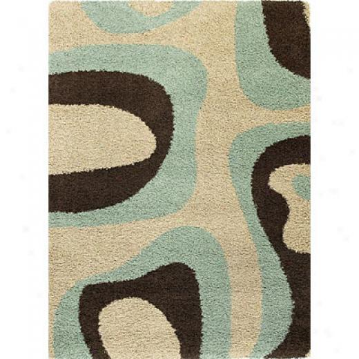 Kzs Oriental Rugs. Inc. Elements Runner 2 X 7 Elements Sky/mocha Plasma Area Rugs