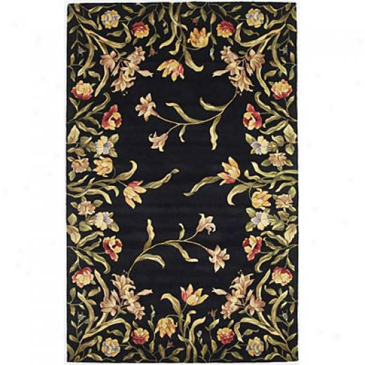 Kas Oriental Rugs. Inc. Emerald Messenger 2 X 8 Emerald Black Tulpi Garden Area Rugs