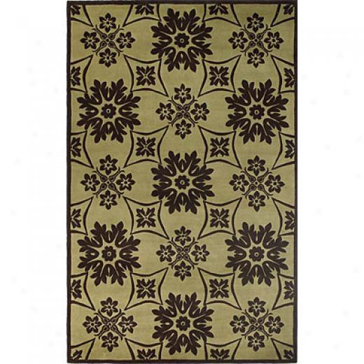 Kas Oriental Rugs. Inc. Emerald 8 X 11 Emerald Pistachio/mocha Mosaic Tile Area Rugs