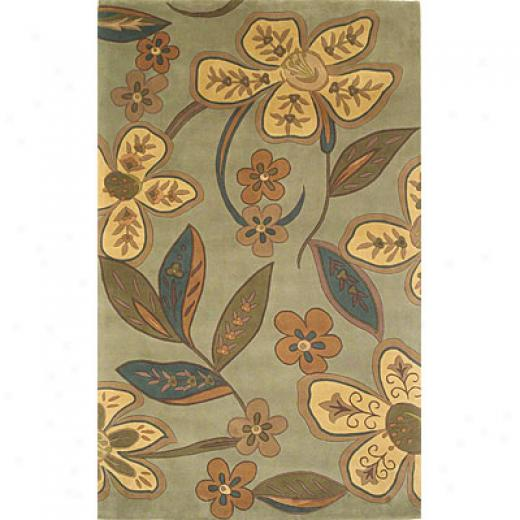 Kas Oriental Rugs. Inc. Emerald 2 X 3 Emerald Sage/gold Quincy Floral Area Rugs