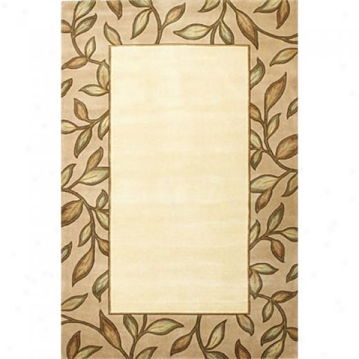 Kas Oriental Rugs. Inc. Emerald 5 X 8 Emerald Ivory/beige Spa Leaf Border Area Rugs