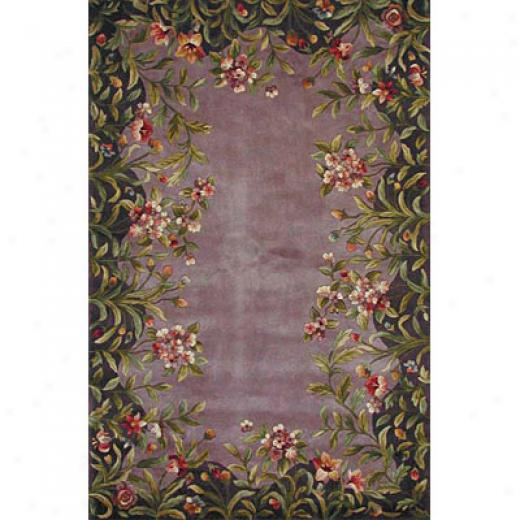 Kas Oriental Rugs. Inc. Emerald 5 X 8 Emerald Lavender Garden Area Rugs