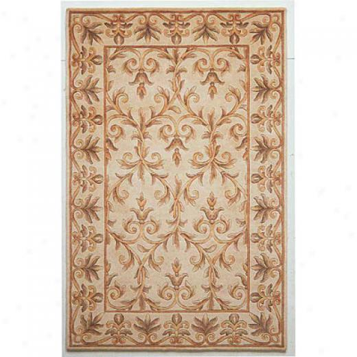 Kas Oriental Rugs. Inc. Emerald 8 Round Emerald Ivory Scroll Area Rugs