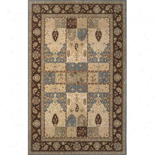 Kas Oriental Rugs. Inc. Imperial 7 X 9 Imperial Wedgewood/coffee Kashan Panel Area Rugs