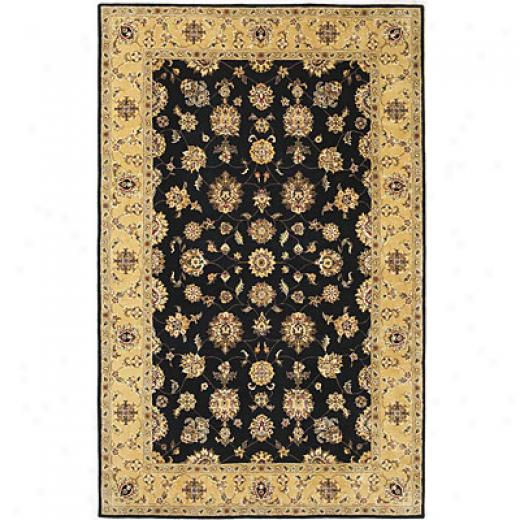 Kas Oriental Rugq. Inc. Imperial 8 Round Imperial Back/beige Tabriz Area Rugs