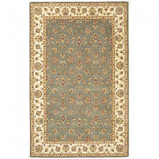 Kas Oriental Rugs. Inc. Imperial 4 X 6 Imperial Lt. Blue/ivory All-over Kashan Area Rugs
