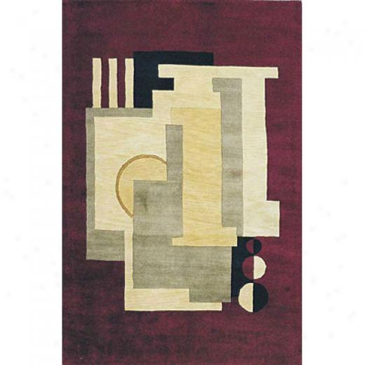 Kas Oriental Rugs. Inc. Indira Runner 2 X 8 Indira Plum Boxes Area Rugs