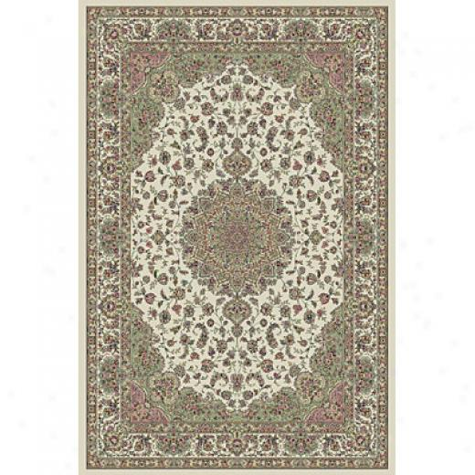 Kas Oriental Rugs. Inc. Kensington 2 X 4 Kensington Ivory Regal Medallion Area Rugs