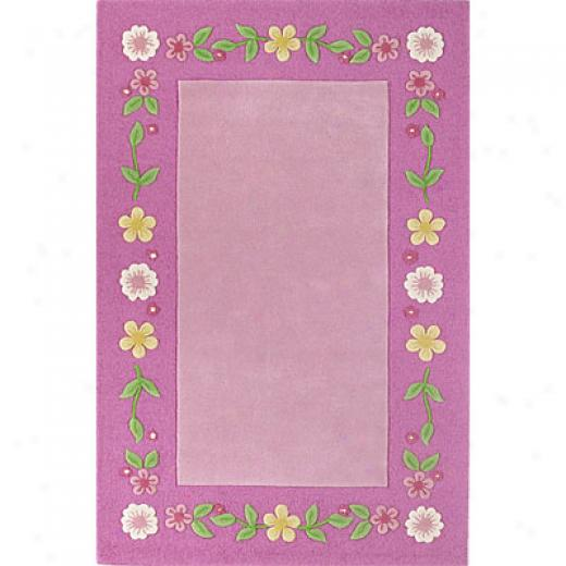 Kas Oriental Rugs. Inc. Kidding Around 3 X 5 Kidding Around Pink Floral Fun Area Rugs