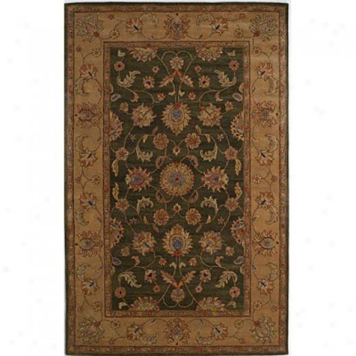 Kas Oriental Rugs. Inc. Lake Palace 8 X 11 Lake Palace Moss/gold Agra Area Rugs