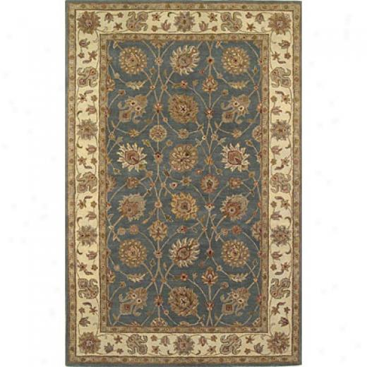 Kas Oriental Rugs. Inc. Lake Palace 5 Round Lake Palace Wedgewood/ivory All-voer Tabriz Area Rugs