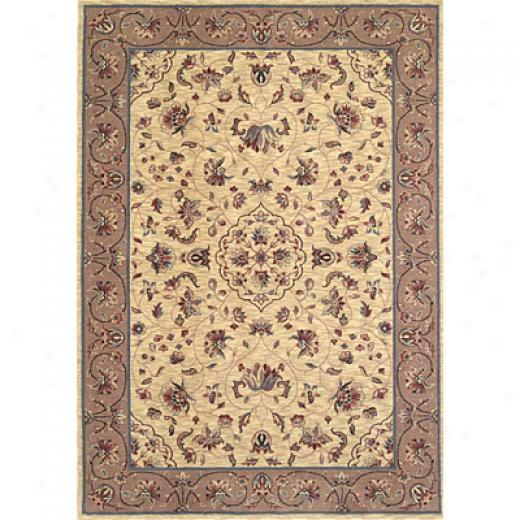 Kas Eastern Rugs. Inc. Bequest 5 Round Lrgacy Ivory/coffee Floral Polynaise Area Rugs