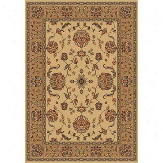 Kas Oriental Rugs. Inc. Manchester 8 Round Ivory Mahal Superficial contents Rugs