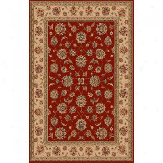 Kas Oriental Rugs. Inc. Manchester 8 Round Red Ivory Mahal Arew Rugs