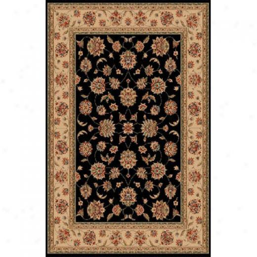Kas Oriental Rugs. Inc. Manchester Runner 2 X 8 Blaci Ivory Mahal Area Rugs