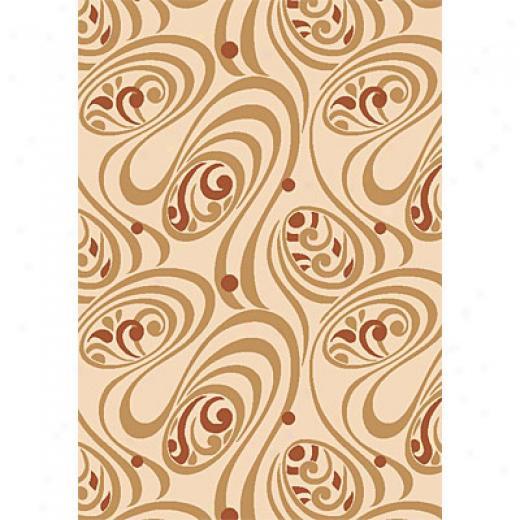 Kas Oriental Rugs. Inc. Moda 7 X 10 Moda Ivory Coffee Mila Area Rugs