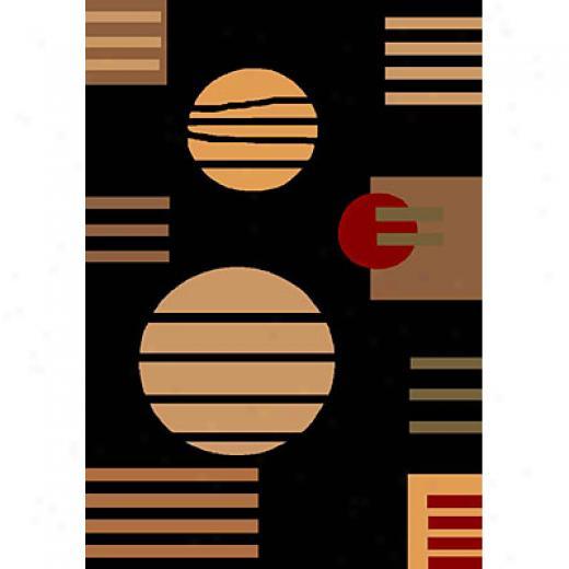 Kas Oriental Rugs. Inc. Modz 7 X 10 Moda Black Contempo Area Rugs