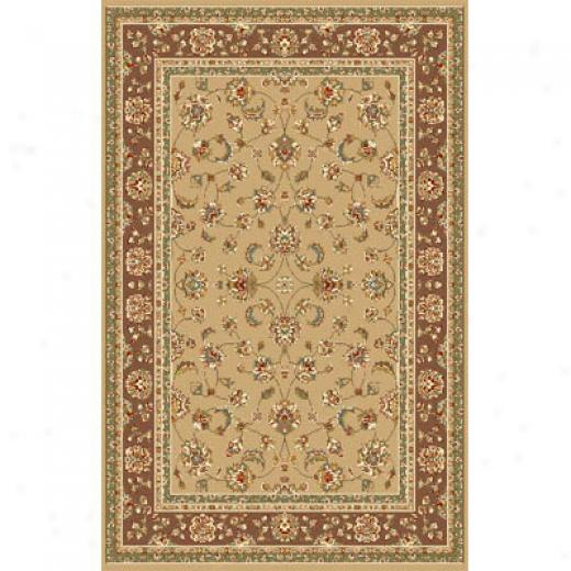 Kas Orientwl Rugs. Inc. Monroe 5 X 8 Sand Mocha Allover Kashan Superficial contents Rugs