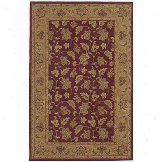 Kas Oriental Rugs. Inc. Patina Runner 2 X 8 Patina Burgundy/dk.beige All-ovee Floral Area Rugs