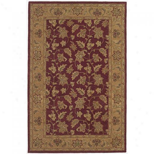 Kas Oriental Rugs. Inc. Patina 3 X 5 Patina Beige/burgundy Agra Area Rugs