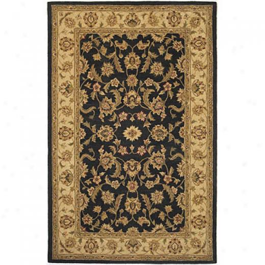 Kas Oriental Rugs. Inc. Providence 2 X 4 Patina Black/beige Agra Arra Rugs