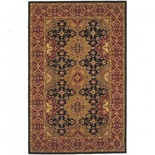 Kas Oriental Rugs. Inc. Providence 2 X 4 Patina Black/burgandy Agra Area Rugs
