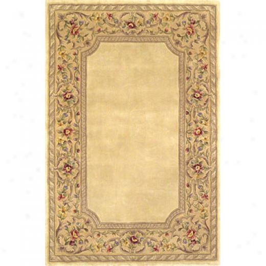 Kas Oriental Rjgx. Inc. Ruby 2 X 4 Ruby Ivory/gold English Fraamework Area Rugs