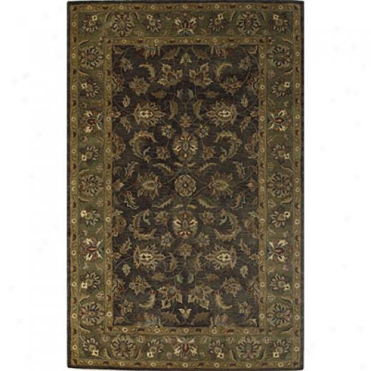 Kas Oriental Rugs. Inc. Taj Palace 3 X 5 Taj Palace Slate/sage Allover Kashan Area Rugs