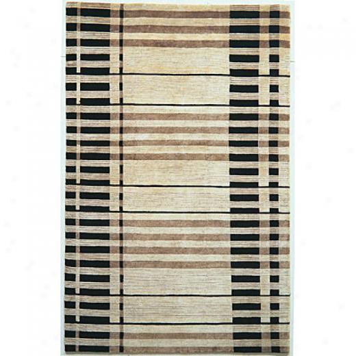 Kas Oriental Rugs. Inc. Valencia 8 X 11 Valencia Ivory & Black Stripes Area Rugs