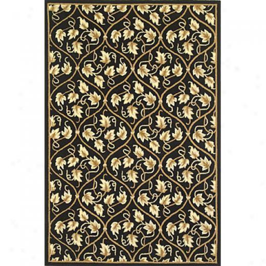 Kas Oriental Rugs. Inc. Veranda 3 X 5 Veranda Black/beige Vines Area Rugs