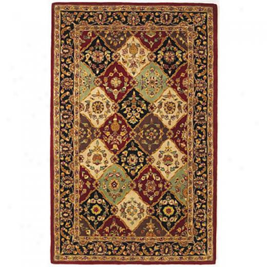 Kas Oriental Rugs. Inc. Vienna 7 Round Vienna Multi/red Panel Area Rugs