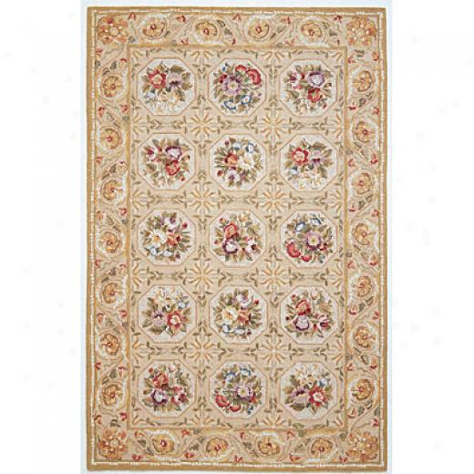 Kas Oriental Rugs. Inc. Winslow 3 X 5 Winslow Yellow/blue Porcelain Vase Area Rugs