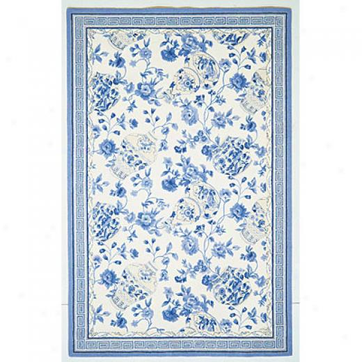 Kas Oriental Rugs. Inc. Winslow 7 Round Winslow Blue/ivory Porcelain Vase Area Rugs