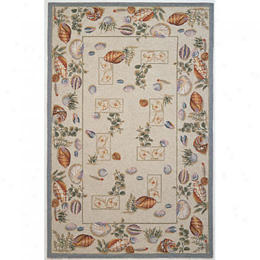 Kas Oriental Rugs. Inc. Winslow 7 Round Winslow Pale Green Seashells Area Rugs