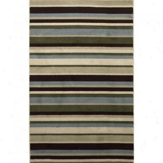 Klaussner Home Furnishings Cabana Stripe 5 X 8 Cabana Stripe Area Rugs