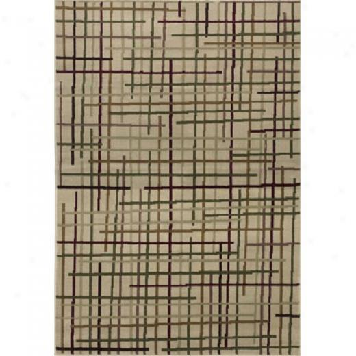 Klaussner Home Furnishings Pipes Red 5 X 8 Red Area Rugs